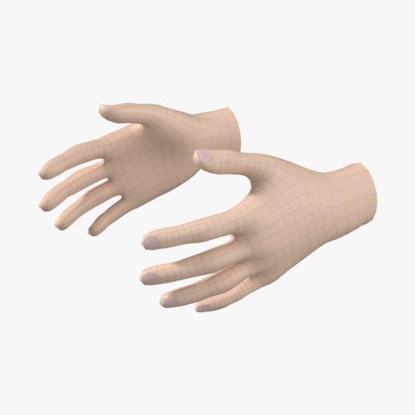 Female Hand Base Mesh 04 - 3DOcean Item for Sale