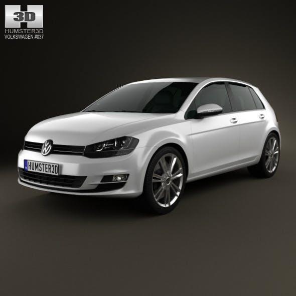Volkswagen Golf Mk7 5-door 2013 - 3DOcean Item for Sale
