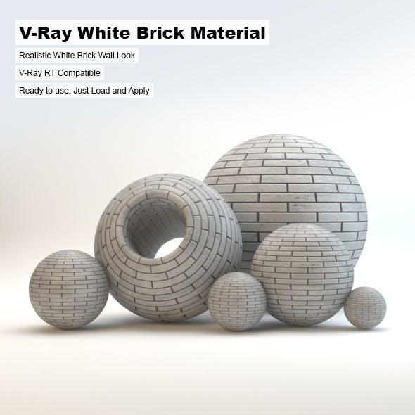 V-Ray White Brick Material - 3DOcean Item for Sale