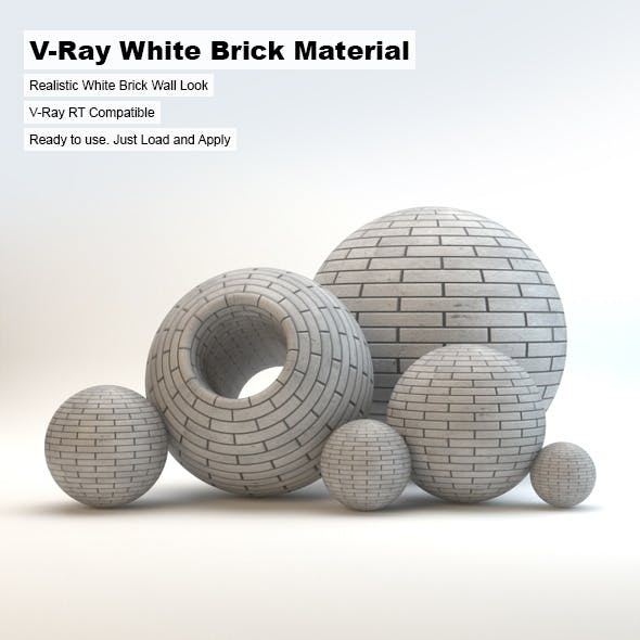V Ray White Brick Material By Arquitectostyles 3docean