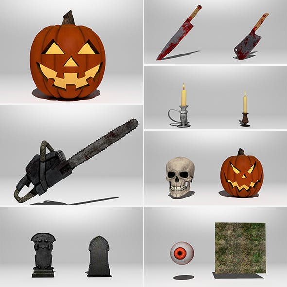 Halloween 12Pack / Jack Evil / Chainsaw / candle