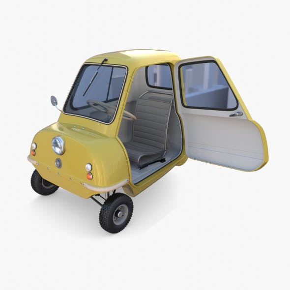 Generic 50cc Microcar with interior and chassis - 3DOcean Item for Sale