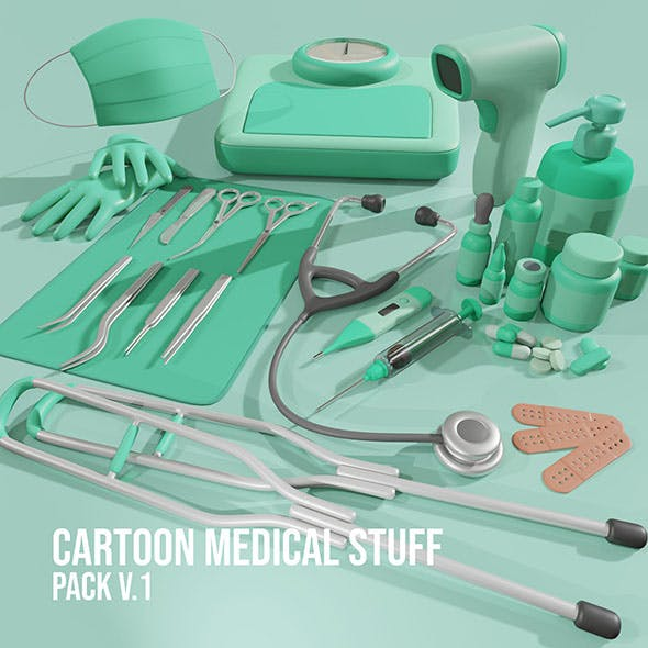 Cartoon Medical Stuff Pack v.1