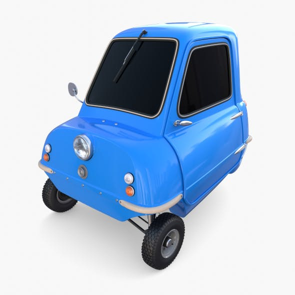 Peel P50 Blue with chassis - 3DOcean Item for Sale