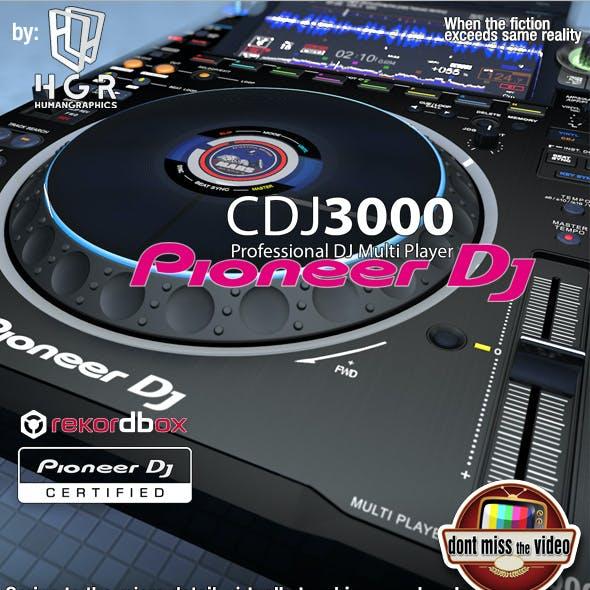 Realistic DJ pro audio, Pioneer DJ CDJ3000 (2020)