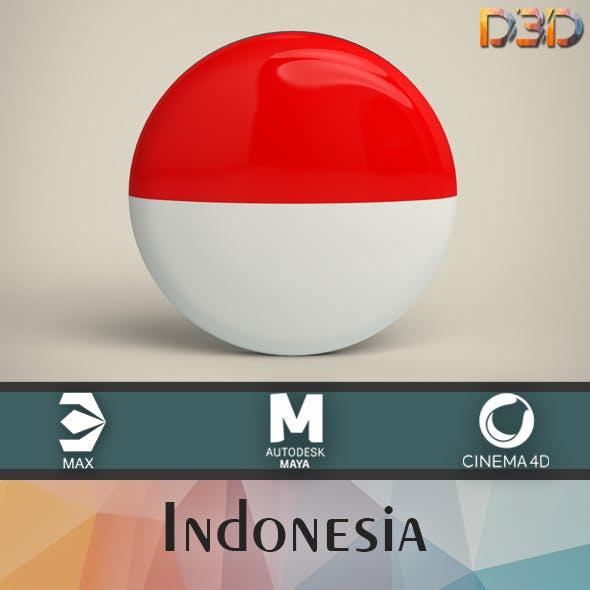Indonesia Badge - 3DOcean Item for Sale