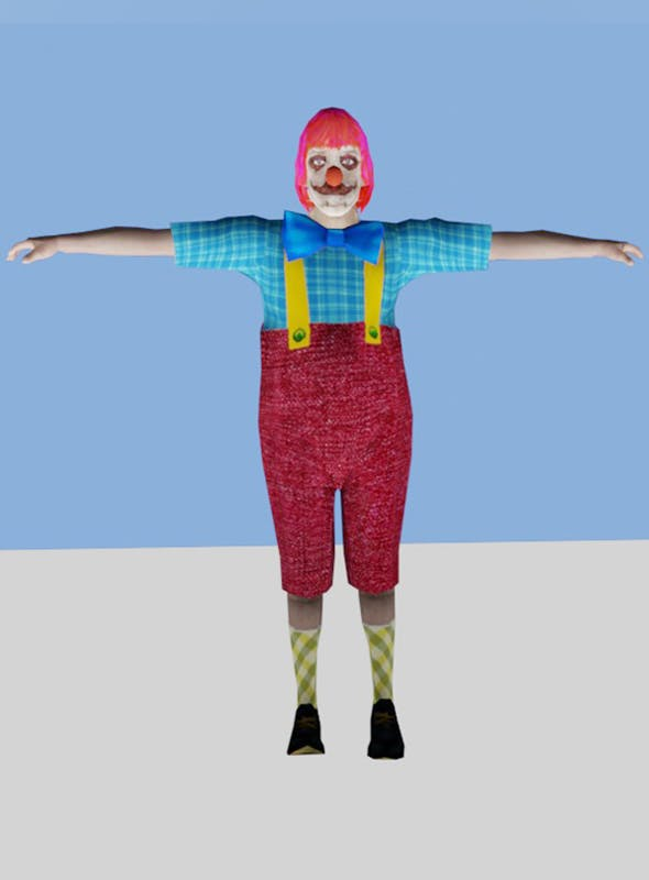 Muffles The Clown with Bonus Circus Tent - 3DOcean Item for Sale