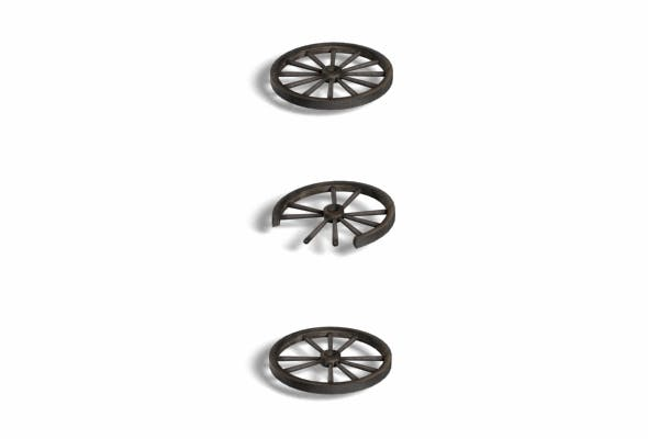 Wood CartWheel - 3DOcean Item for Sale