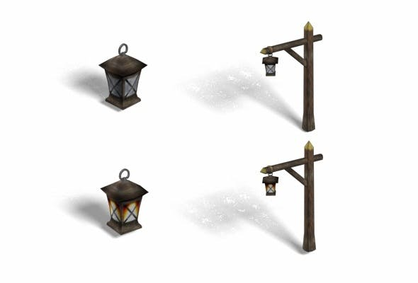 Lamp Poles Collection - 3DOcean Item for Sale