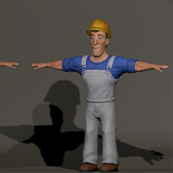 Low poly Workman unity/unreal engine