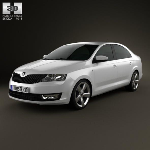 Skoda Rapid 2012 - 3DOcean Item for Sale