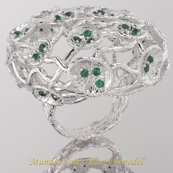 Mundus Joias Diamond ring twisted branches