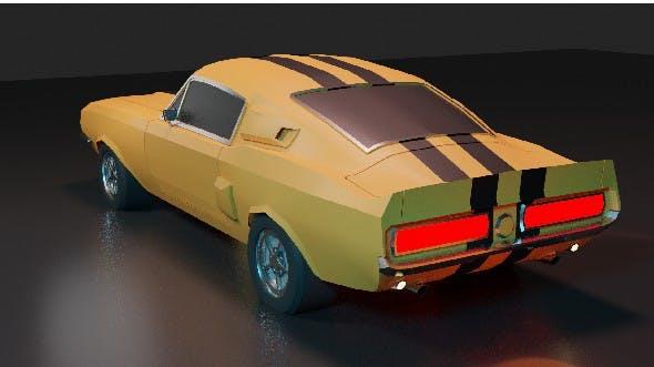 Mustang GT500 1967 - 3DOcean Item for Sale