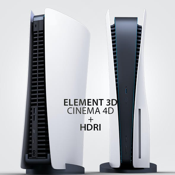 Element 3D Playstation 5 Gaming Console 3D Model