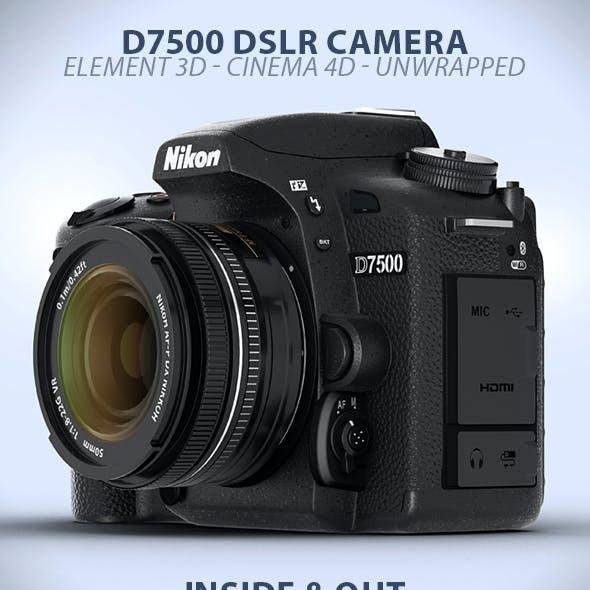 D7500 DSLR Digital Camera Element 3D Model