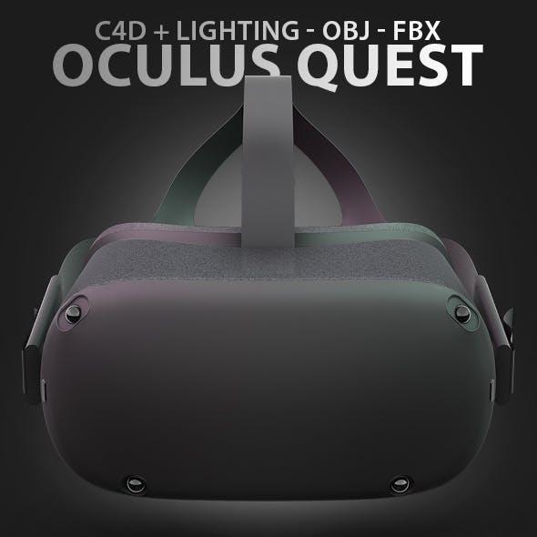 Oculus Quest Virtual Reality Headset 3D Model