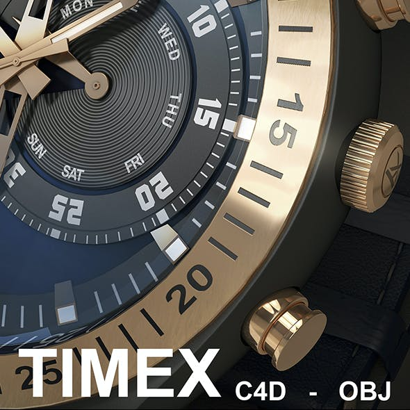 Timex Chronograph Detailed Watch 3D Model