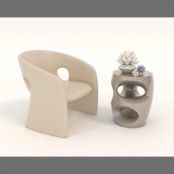 Contemporary Chair and Coffee Table 5