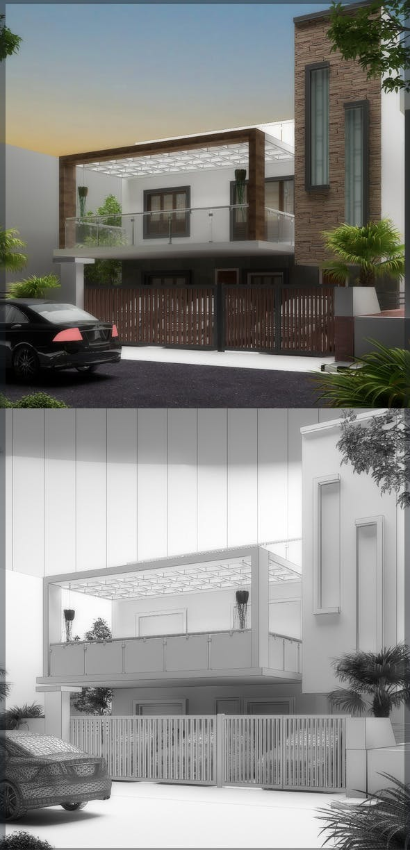 Realistic Exterior 3D 8080 110 - 3DOcean Item for Sale