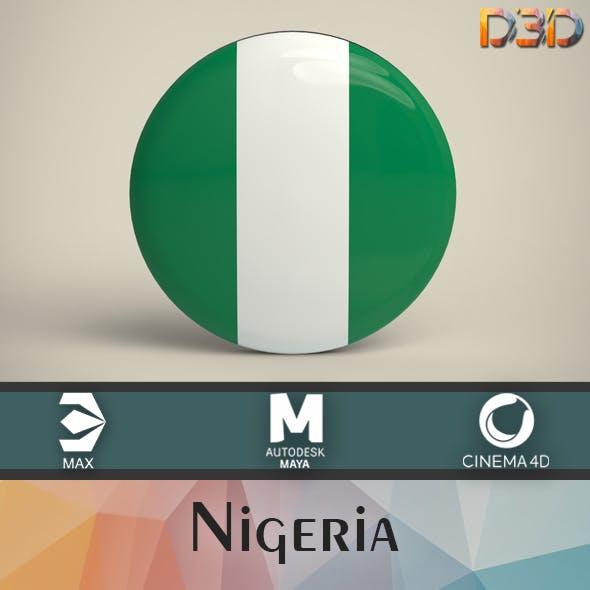 Nigeria Badge - 3DOcean Item for Sale