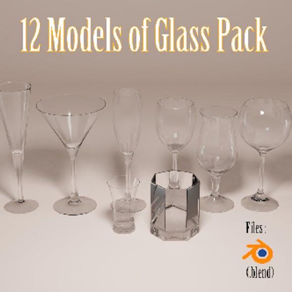 3d glass model pack