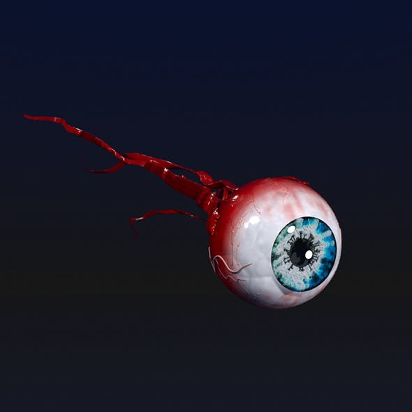 Eye with a virus pupil