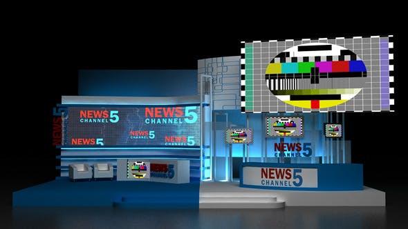 TV Studio - 3DOcean Item for Sale
