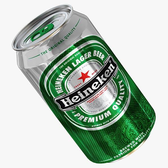 Heineken beer can