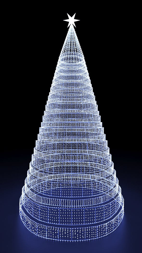 Outdoor Led Lighted Chiristmas Tree - 3DOcean Item for Sale