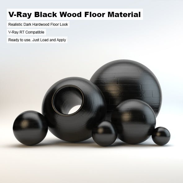 V-Ray Black Wood Material - 3DOcean Item for Sale