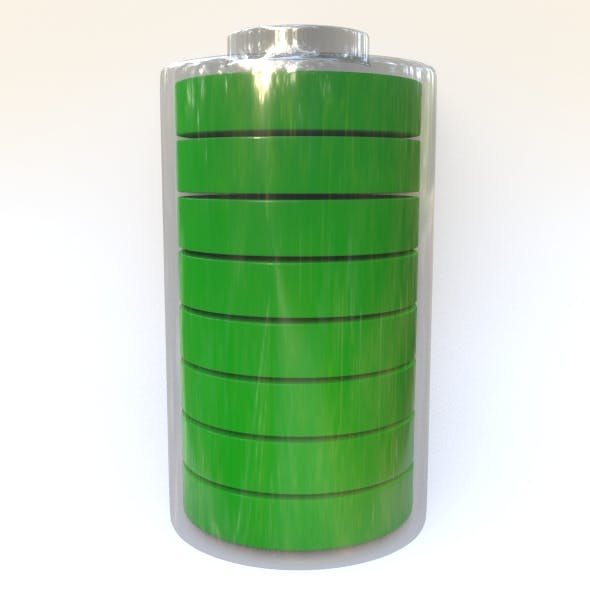 glass battery with charge divisions 3D model