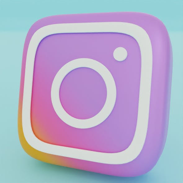 instagram icon 3D model