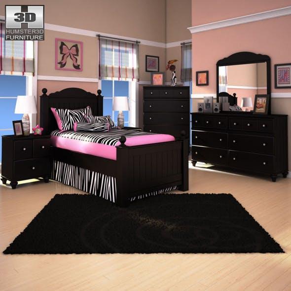 Ashley Jaidyn Poster Bedroom Set - 3DOcean Item for Sale