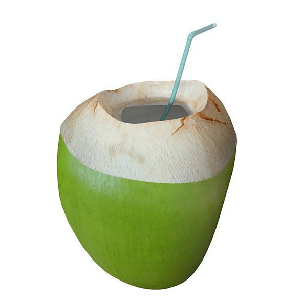 coconut water sliced 3d model