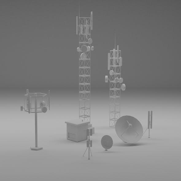 communication antennas set