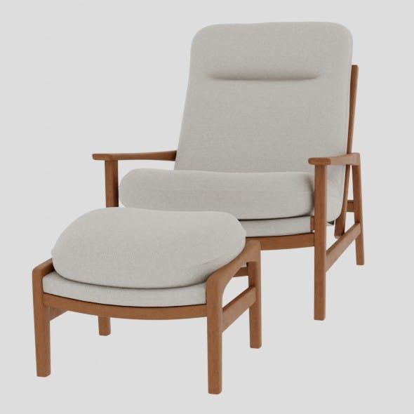 Marina armchair with ottomar