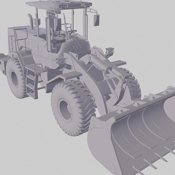 3d print model of the L956F wheel loader