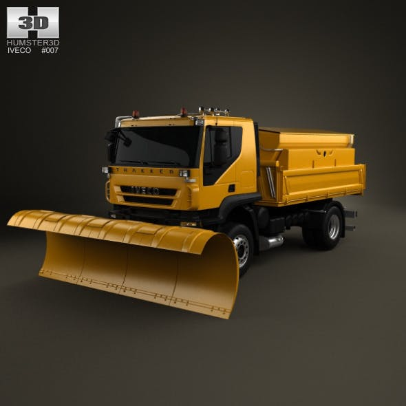 Iveco Trakker Snow Plow Truck 2-axis 2012 - 3DOcean Item for Sale