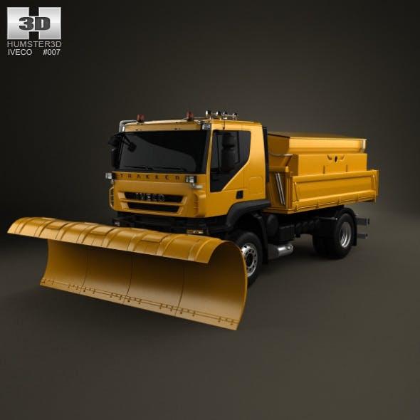 Iveco Trakker Snow Plow Truck 2-axis 2012