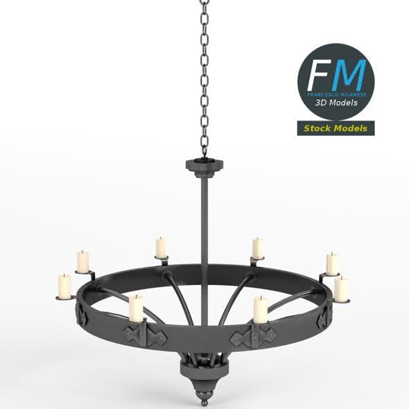 Medieval chandelier 3