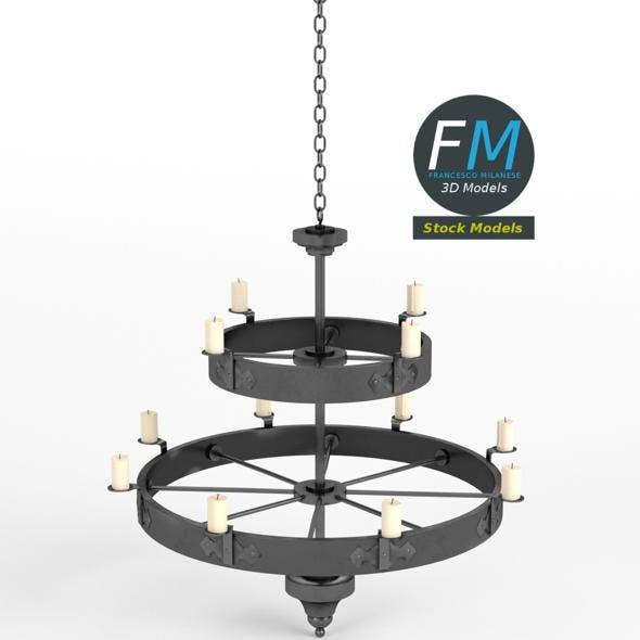 Medieval chandelier 4
