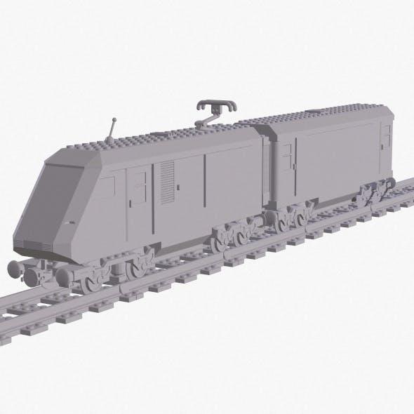 3d print model - Lego train 4558 Metroliner