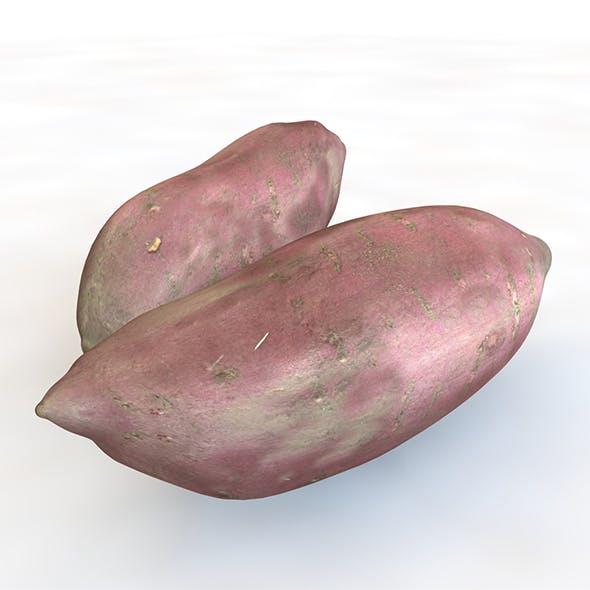 Sweet Potato Purple 3d model