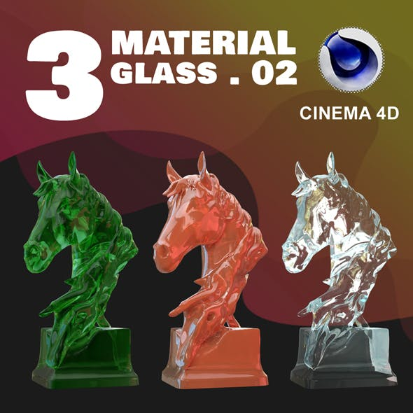 C4D - 3 GLASS MATERIAL_NO2