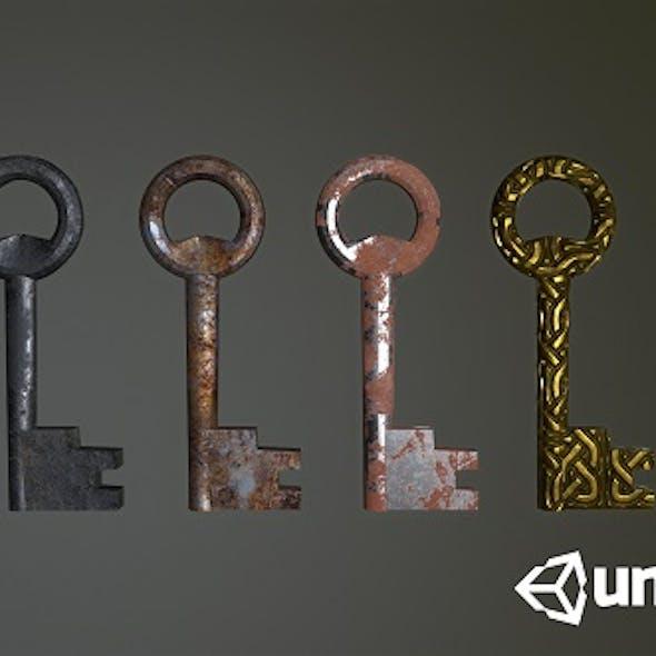 Old Keys Low-poly 3D model