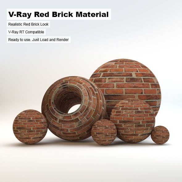 V-Ray Red Brick Material