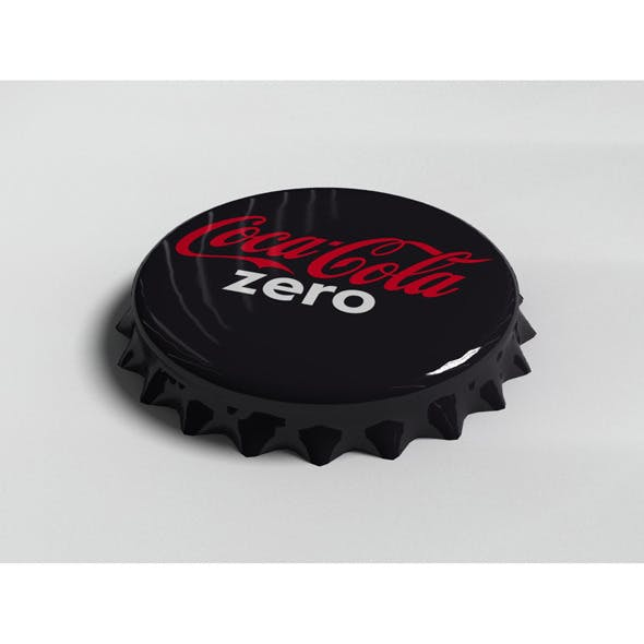 Cola Zero Bottle Tin Cap