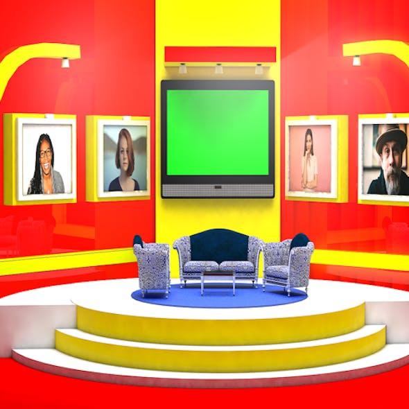 Virtual Studio Set for Talk Show
