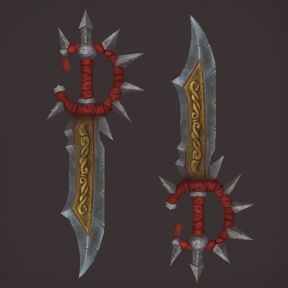 Low Poly Fantasy Sword