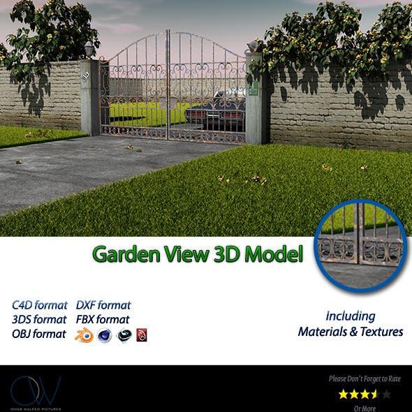Garden View 3D Model